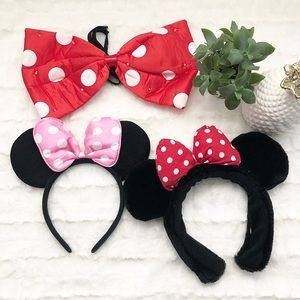 Set of Minnie Mouse Headbands & Light Up Bow